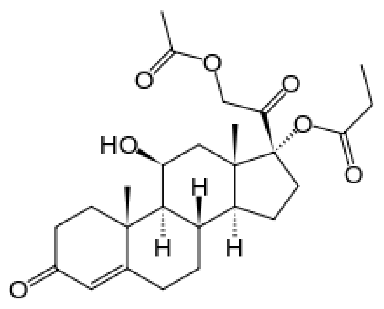 hydrocortisone-aceponate-chemical-structure