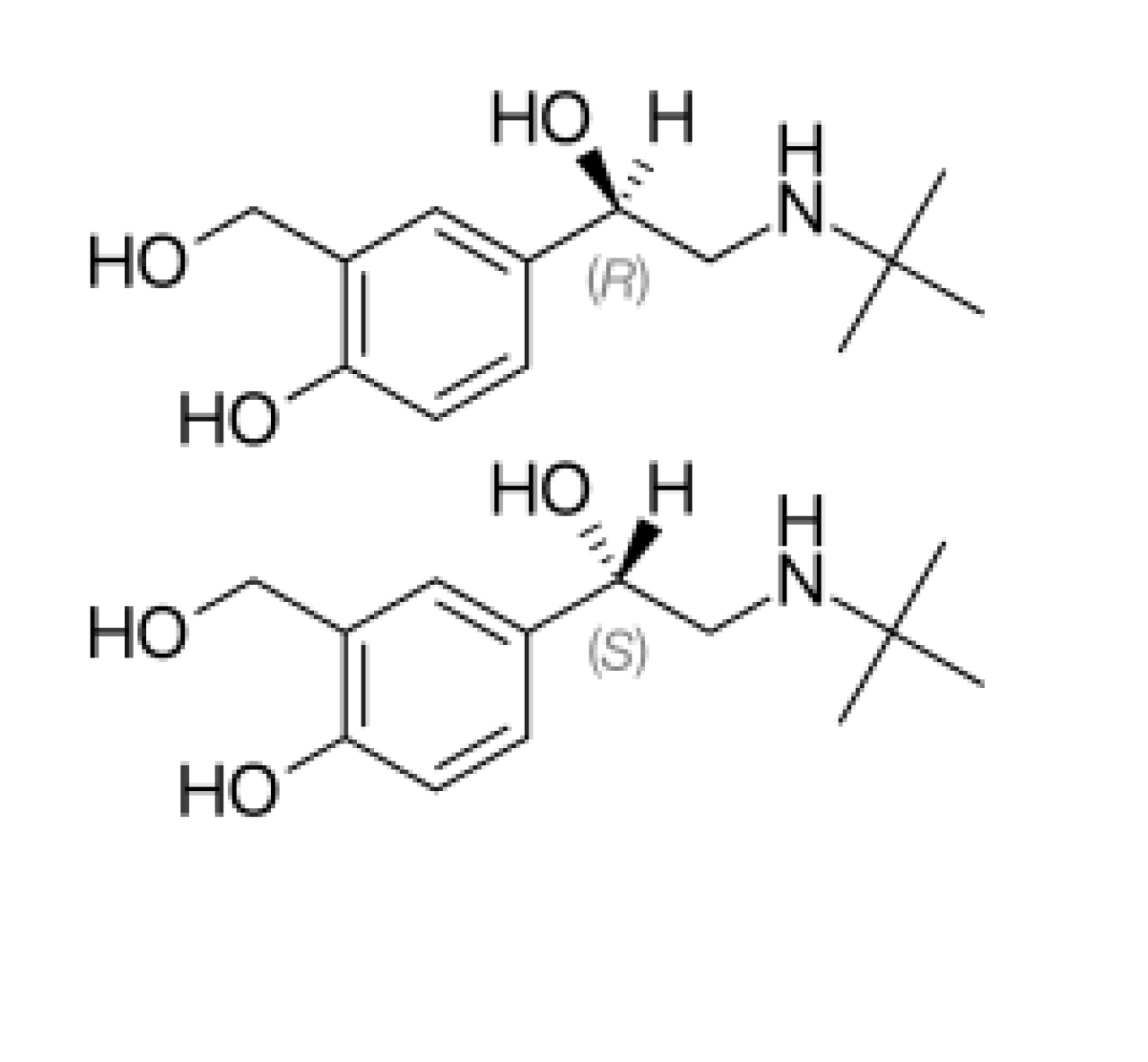 salbutamol-chemical-structure
